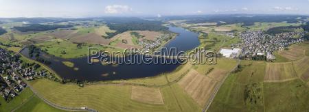 the obernau dam lake in siegerland
