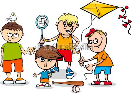 kid boys children characters cartoon
