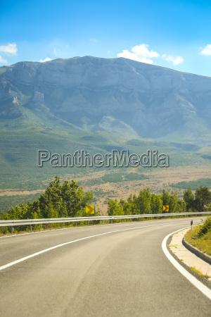 road through rural landscape