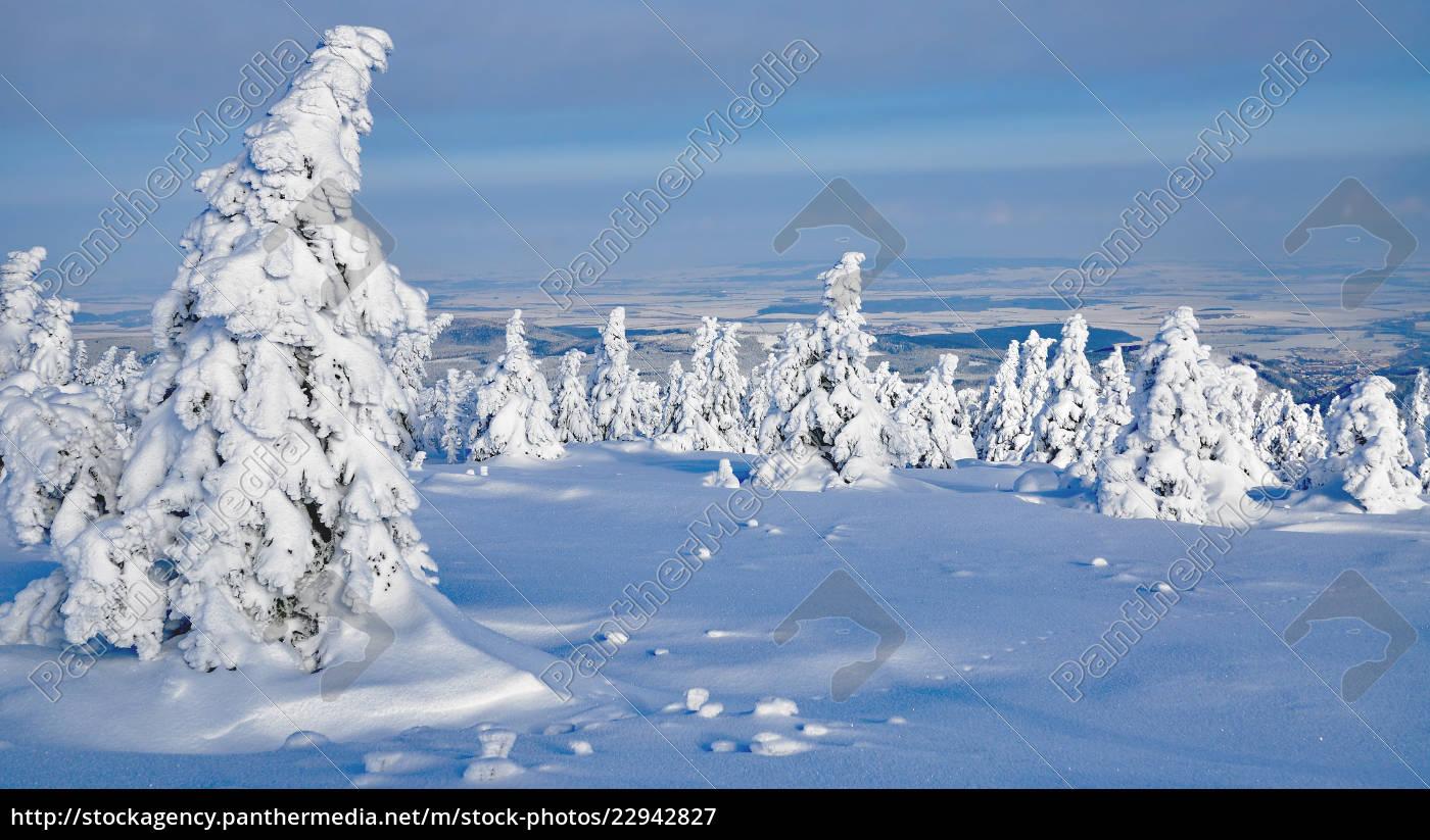 winter, auf, dem, brocken, im, harz, sachsen-anhalt, deutschland - 22942827