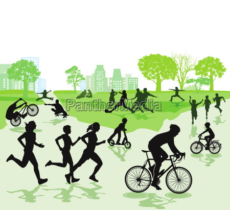 people in leisure time and sports