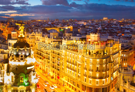 madrid skyline spain