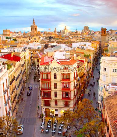 beruehmte altstadt von valencia spanien