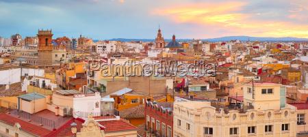panorama von valencia spanien