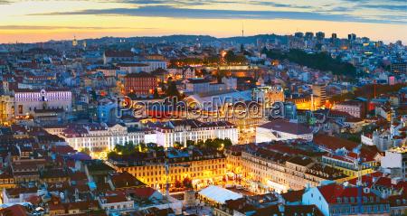 lisbon city center overview portugal