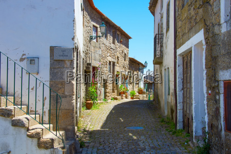traditional portugal old street monsanto