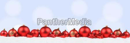 weihnachten rot weihnachtskugeln banner dekoration hellblau