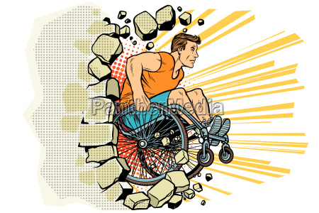 caucasian male athlete in a wheelchair
