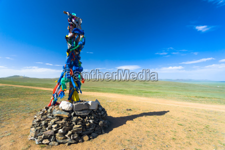 sommer sommerlich mongolei horizontal mongole steppe
