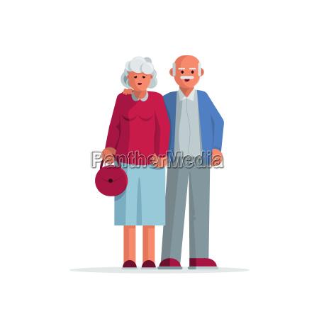 gluecklich aelteres ehepaar zusammen