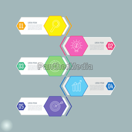 creative concept for infographic with 5