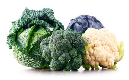 composition with raw organic vegetables