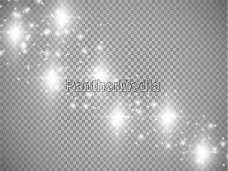 lichter auf transparentem hintergrund vektor weiss