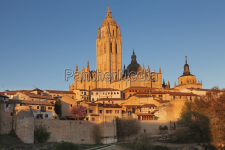 old town town wall and cathedral