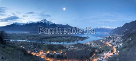 panorama of sorico and lake como