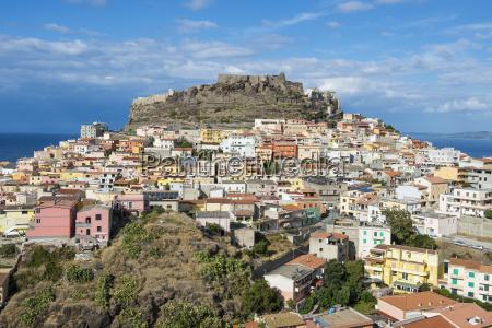 view over castelsardo sardinia italy mediterranean