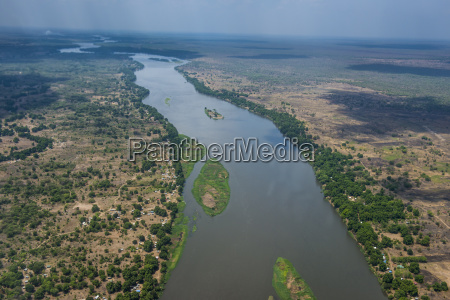 aerial of the white nile river