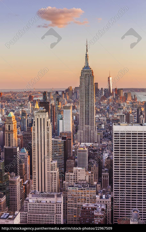 manhattan skyline new yorkskyline empire state lizenzpflichtiges bild 22967509. Black Bedroom Furniture Sets. Home Design Ideas
