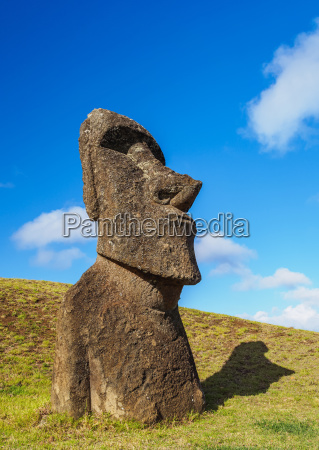 moai at the quarry on the
