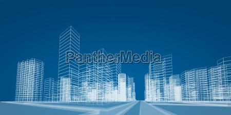wiedergabe des stadtprojekts 3d