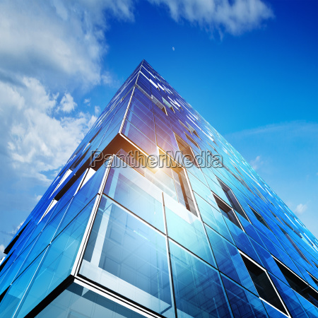 modern building 3d rendering scene