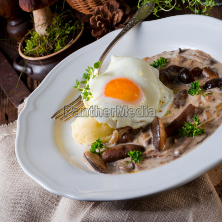 forest mushroom sauce with fresh mushrooms