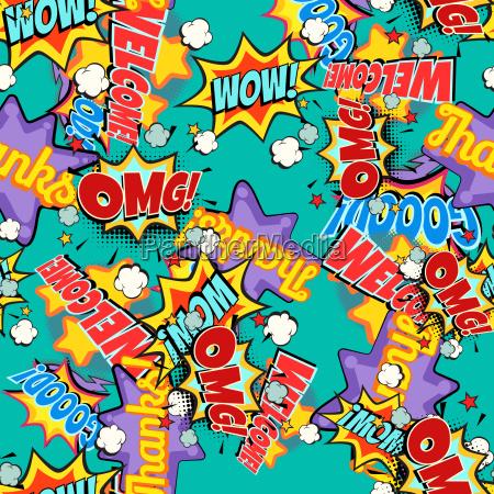 comic buch woerter pop art hintergrund