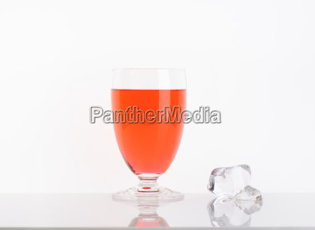 glass of strawberry juice