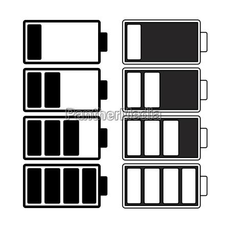 batterieladung vektorsymbol design schoene illustration isoliert