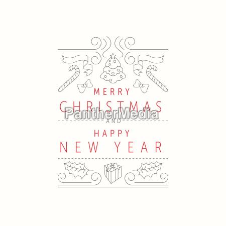 weihnachts und neujahrsgruss karten entwurfs schablone