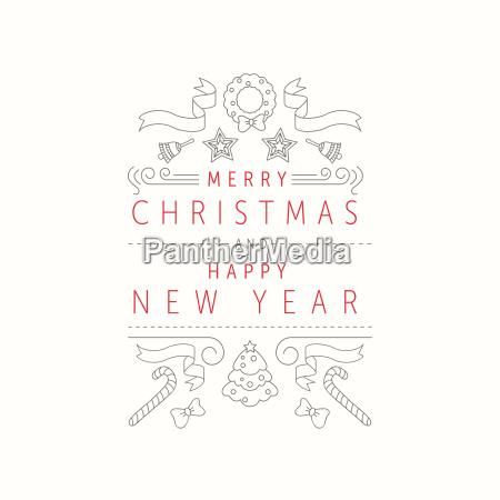weihnachten und neujahr grusskarte designvorlage