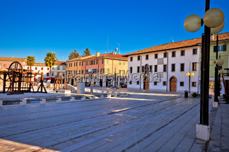 central square in town of palmanova