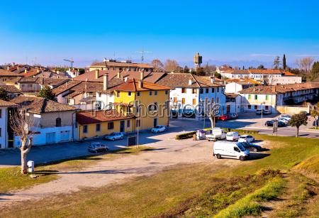 town of palmanova skyline panoramic view