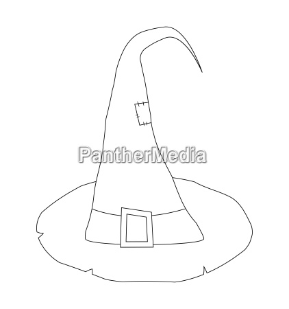 witch hat cartoon silhouette vector symbol