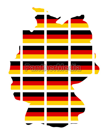 germany map flag vector symbol icon