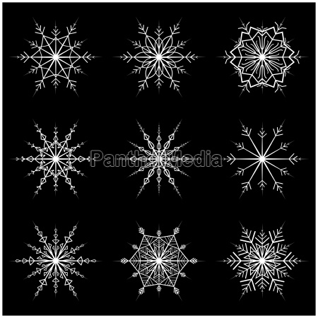 snowflake vector symbol silhouette design christmas
