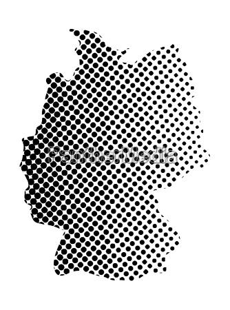 germany map halftone vector symbol icon