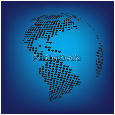 globe earth world map abstract