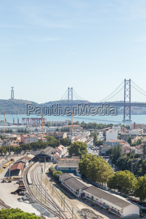 view on travel city lisbon from