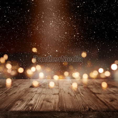 festive christmas background with light effects