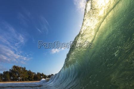 view of ocean wave oahu hawaii