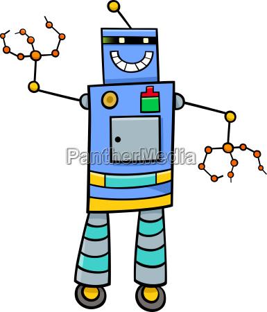 cartoon robot fantasy character