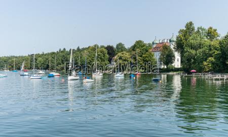 sailing boats on the lake