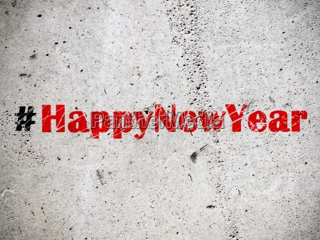 hashtag happy new year auf grunder