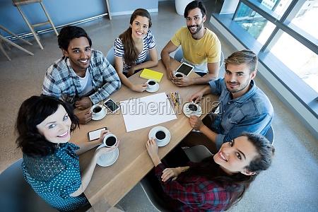 creative business team having meeting over