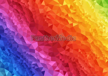 abstract rainbow triangular background