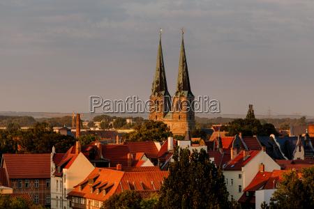 world heritage city quedlinburg view over