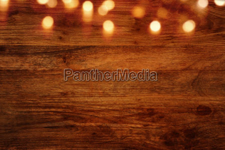 dark wooden background with bokeh effects
