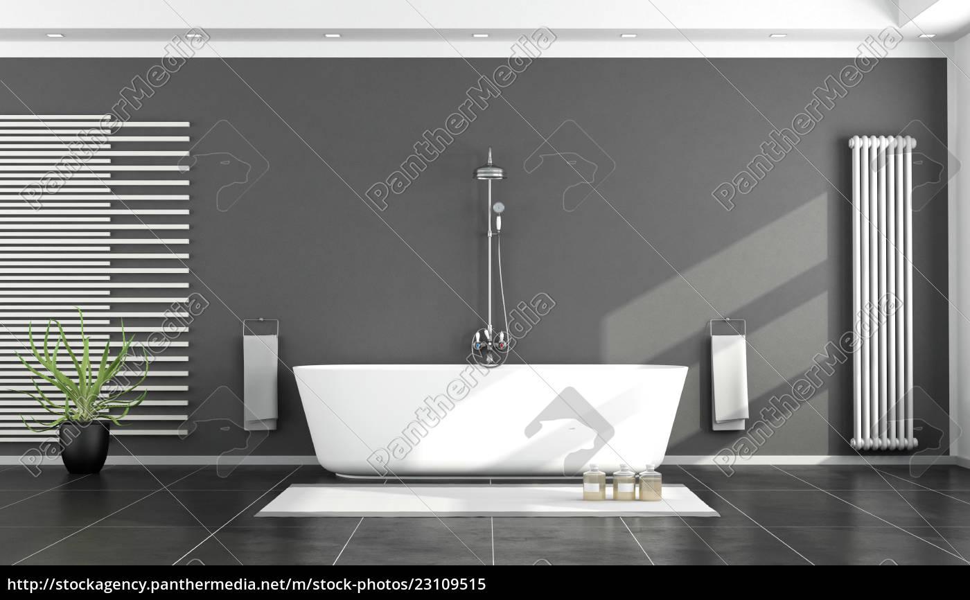 Lizenzfreies Bild 12 - schwarz weiß modernes badezimmer
