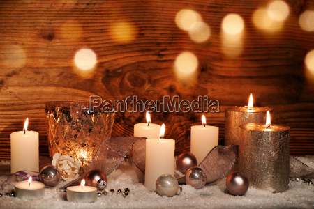 festive christmas still life with candles